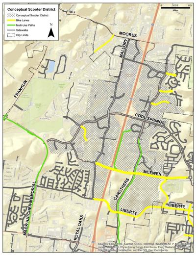 E-scooter map
