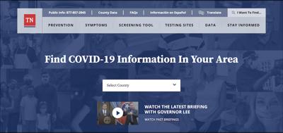 COVID19.tn.gov website