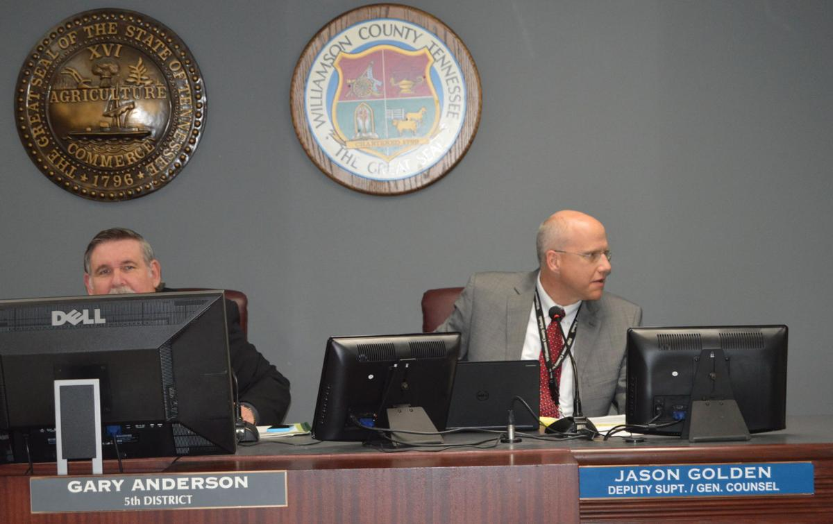 WCS Deputy Superintendent and General Counsel Jason Golden