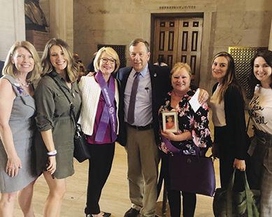 From left are Cassie Jones, Alex Bowden, Barbara Bowden, Rep. Sam Whitson, R-Franklin, Laura Musgrave, Rachel Blackhurst and Leah White.