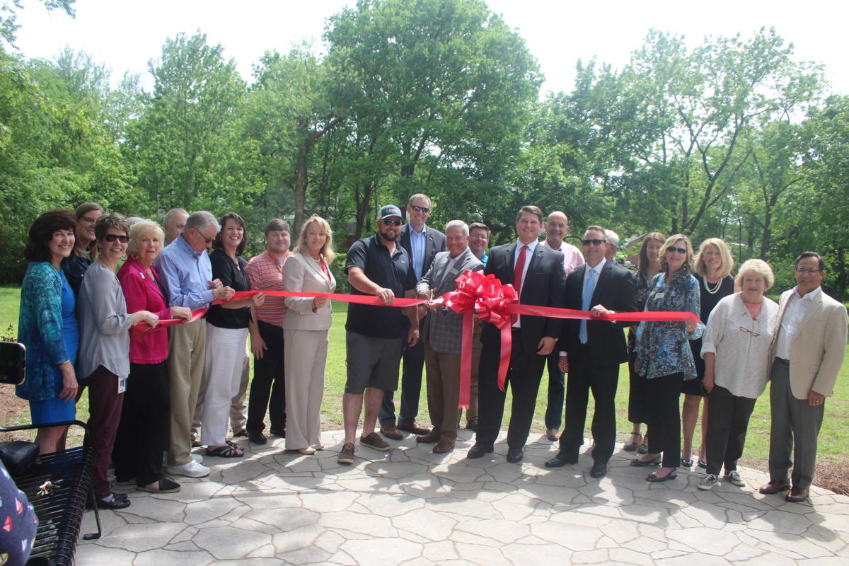 Members of Leadership Franklin join city officals and Williamson Inc. at the ribbon cutting celebration