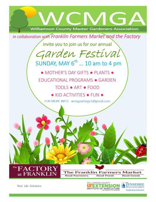Garden Festival to be held May 6 at Franklin Farmer\'s Market ...