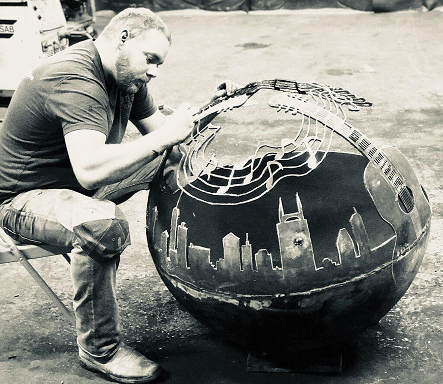 riverside antiques to host creator of mann made fire pits
