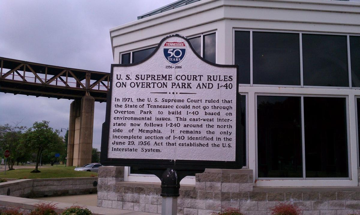 historical marker in Memphis