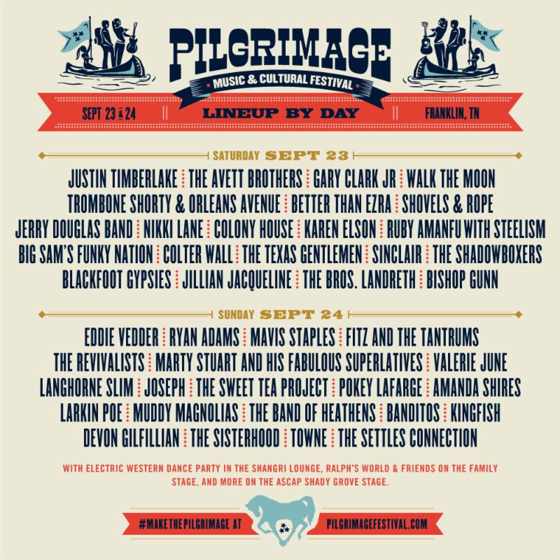 Pilgrimage 2017 lineup