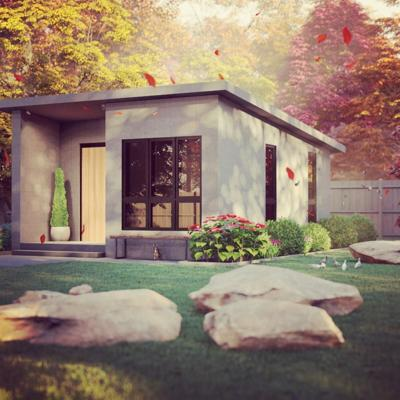 Red Triangle backyard office rendering
