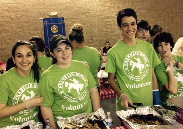 Culinary art students and the Franklin Rodeo