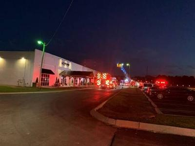 Franklin commercial building fire