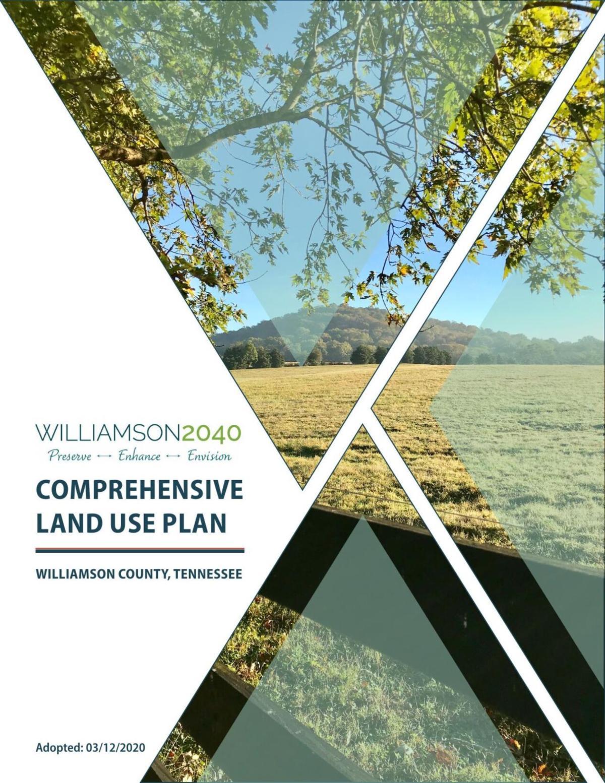 Williamson 2040 Comprehensive Land Use Plan