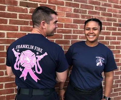 Franklin Firefighters Fight Breast Cancer With T Shirt Sales