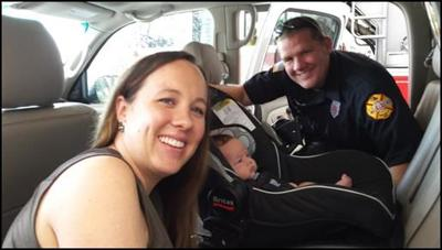 Franklin Fire Department Car Seat Safety Check