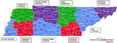 TN Dept. of Labor Unemployment Map