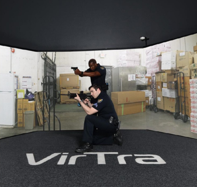 VirTra Brentwood Police Training firearms simluator