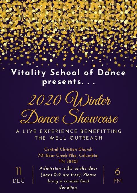 2020 Winter Dance Showcase Flyer