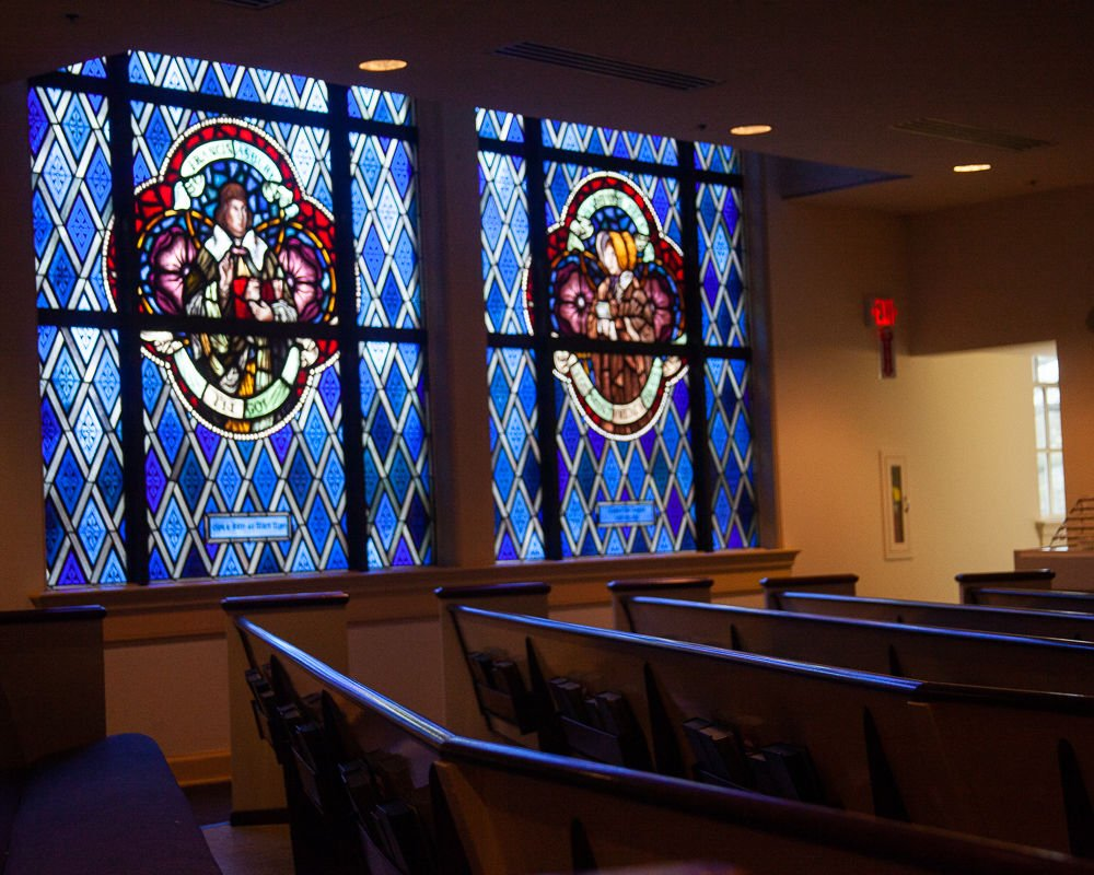 Stained Glass church Brentwood United Methodist Church