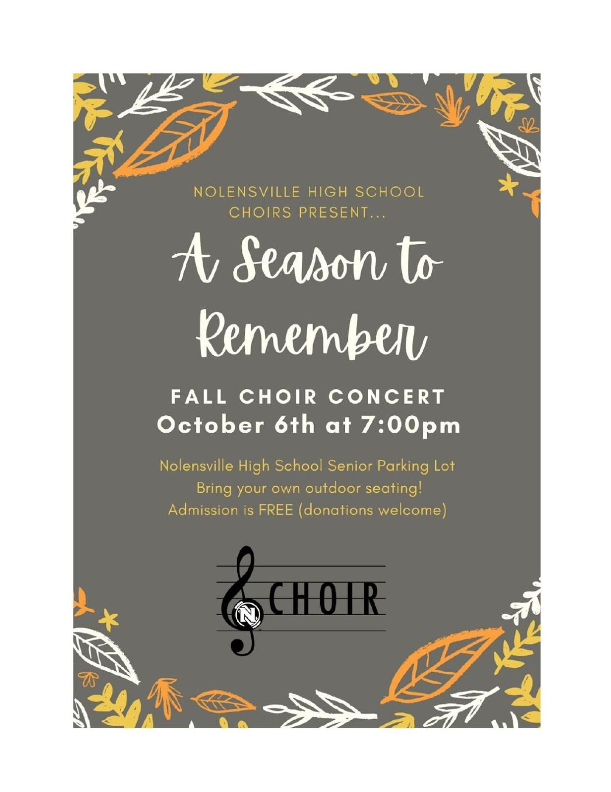 A Season to Remember NHS Choirs Fall Concert 2020