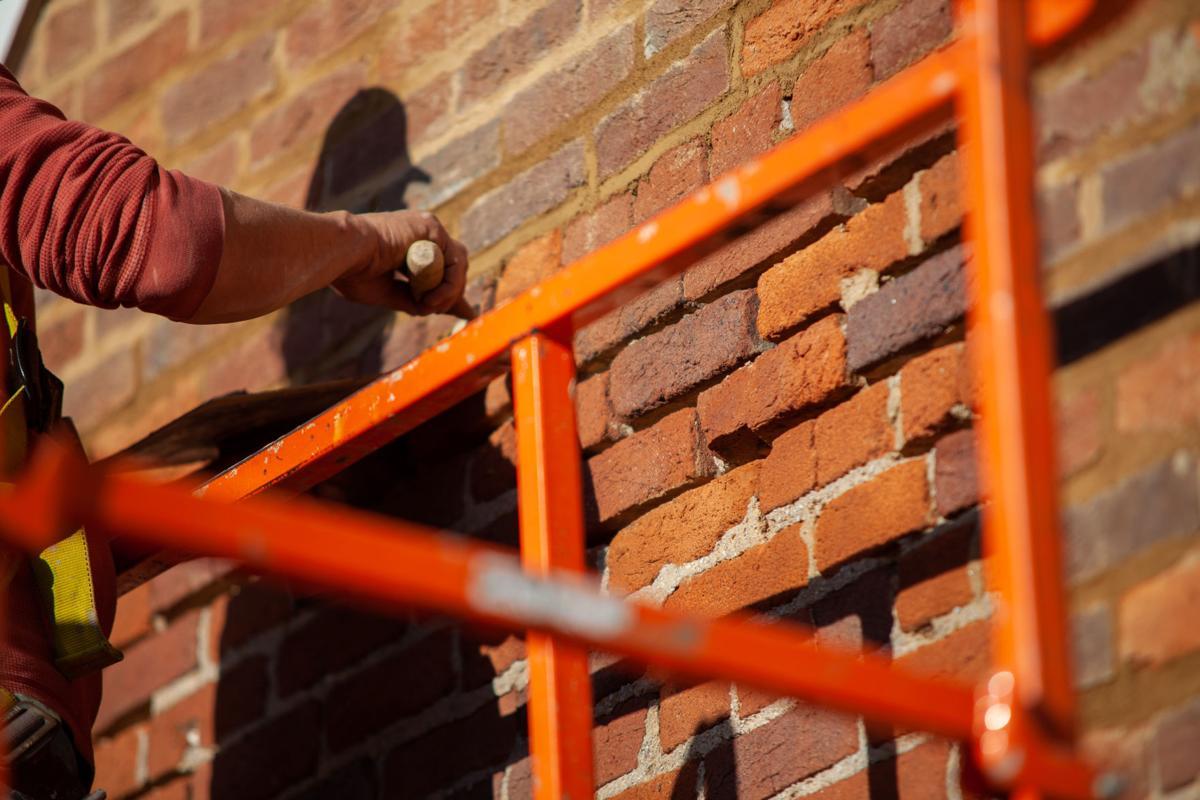 Ravenswood Slave Cabin repair 1