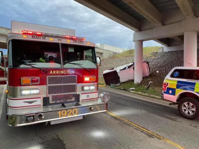 Arrington Fire Rescue crash 840 030420