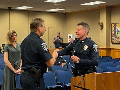 Brentwood Police promotion Assistant Chief Richard Hickey