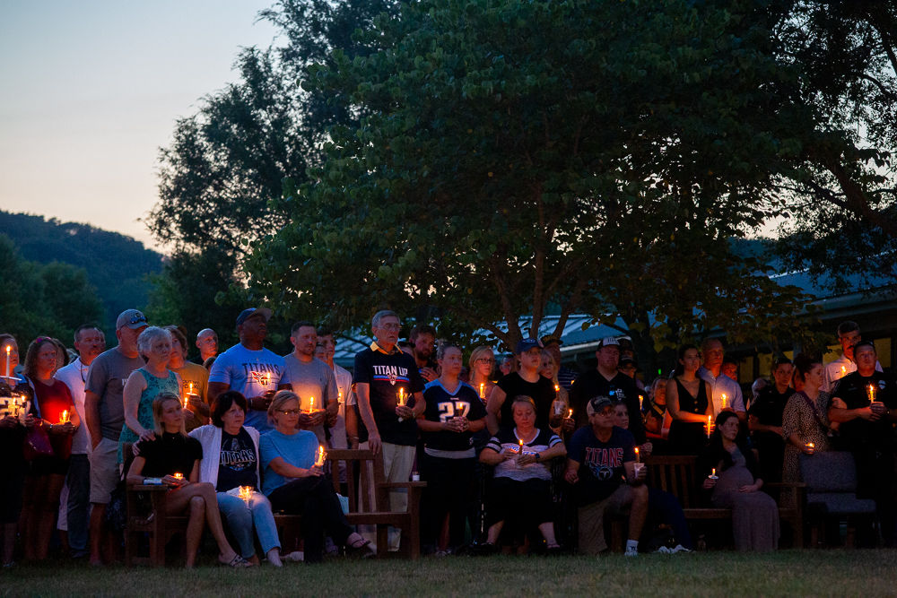 BPD Officer Destin Legieza family candlelight vigil
