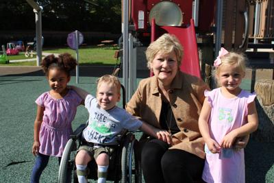 Gail Powell with children