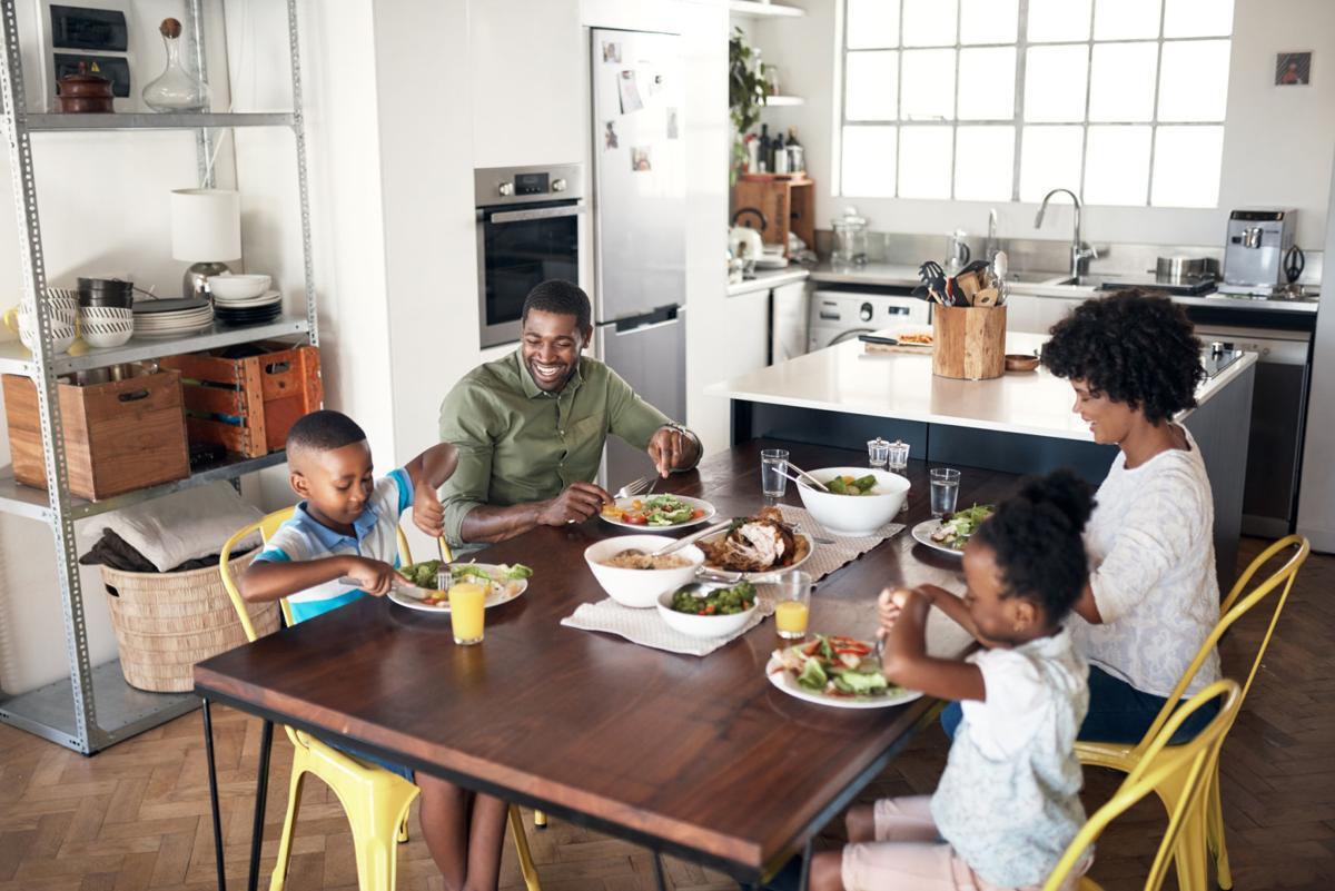 family dinner home kitchen