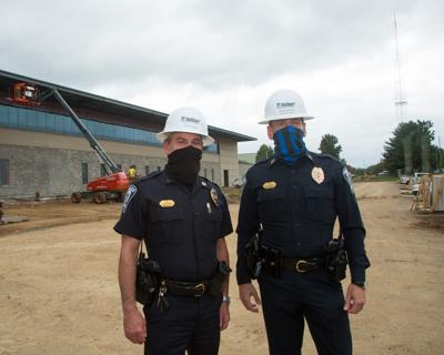 Brentwood Police Capt. Jimmy Campbell and Assistant Police Chief Richard Hickey new police HQ 2020
