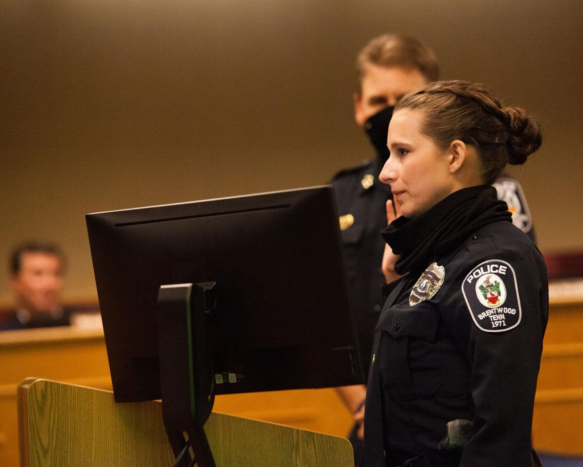 Police Officer Melissa Hughes swearing in Brentwood