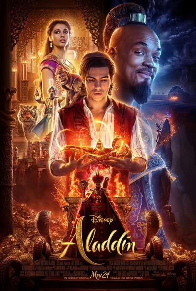 'Aladdin' movie poster Brentwood movie in the park