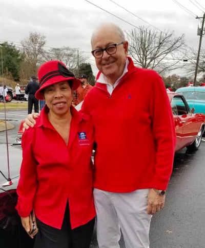 Pearl Bransford and Mayor Moore