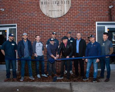 Wheeler's Raid Distillery ribbon cutting