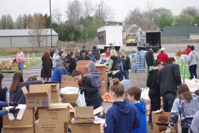 The Well Outreach mobile food drive