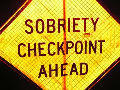 Sobriety Checkpoint DUI Checkpoint sign