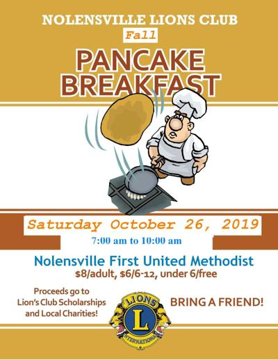 Nolensville Lions Club fall pancake breakfast