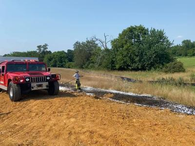 Arrington Fire and Rescue Independence Day 2021 brush fire