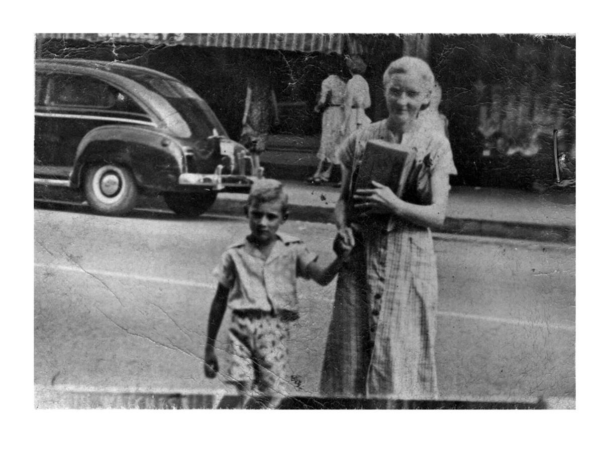 Crutcher as child