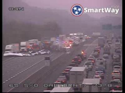 Traffic accident 10282020 I-65 Old Hickory