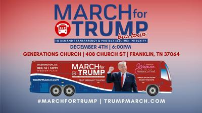 March for Trump Franklin Event Flyer