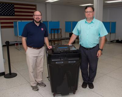 Chad Gray Williamson County voting machine 2020