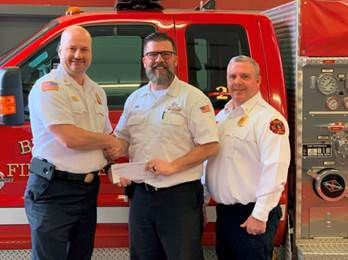 Dryer Vent Wizard Brentwood Fire and Rescue Department grant donation 2020