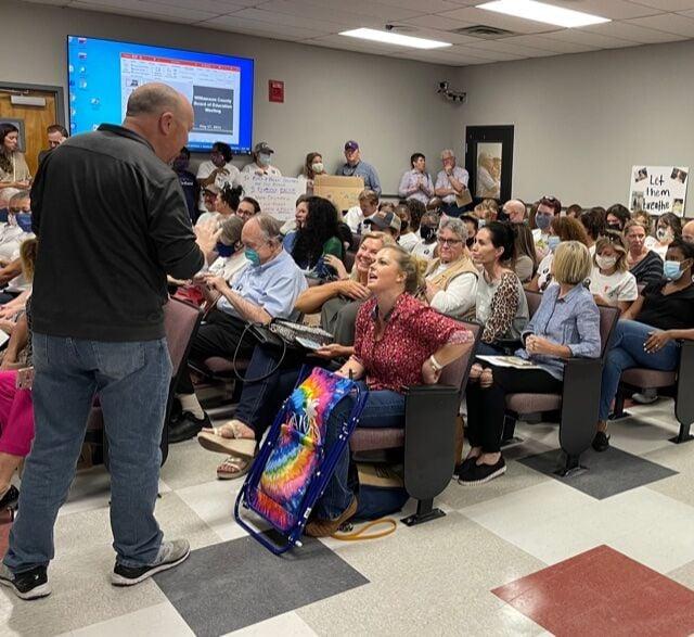 School board crowd May 2021