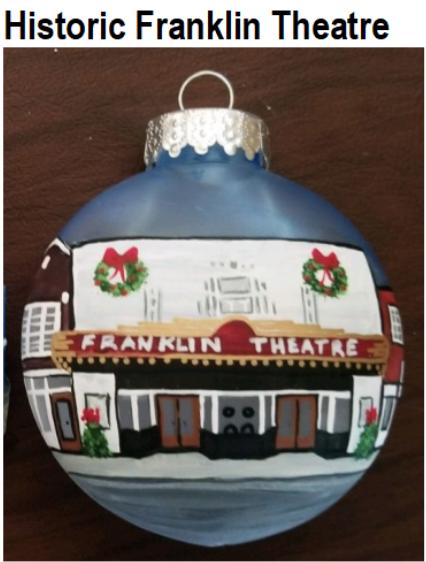 Brentwood Franklin Woman's Service Club Ornament Historic Franklin Theatre