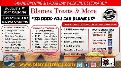 Blames Treats Grand Opening Poster