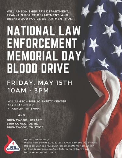 National Law Enforcement Memorial Day Blood Drive