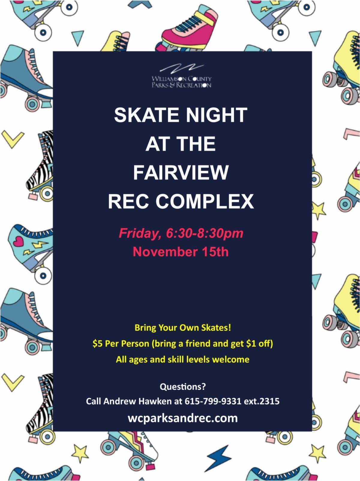 skate night fairview