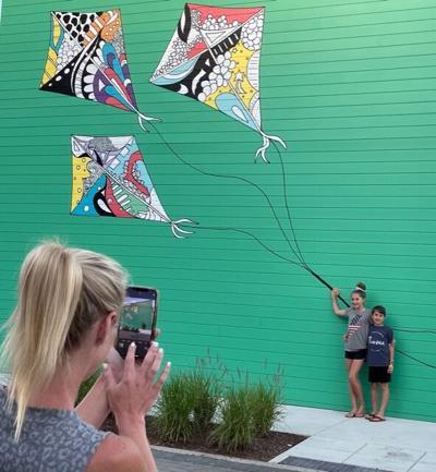 Kites mural at McEwen Northside