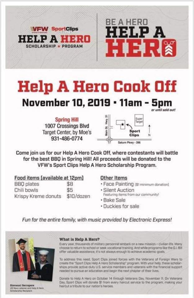 help a hero flyer