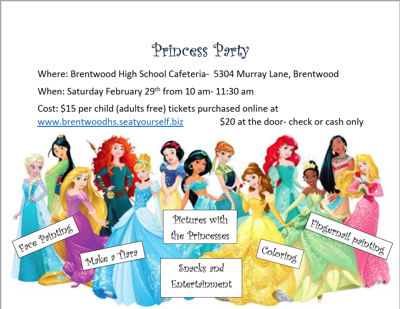 BHS Princess Party
