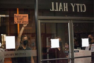 People's Plaza protestors in Franklin