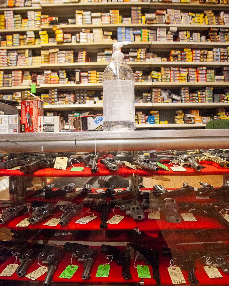 Franklin Gun Shop Hand Sanitizer guns